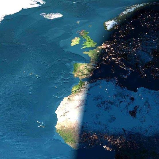 تصویر واقعی از فاصله مرز و سرحد بین شب و روز
